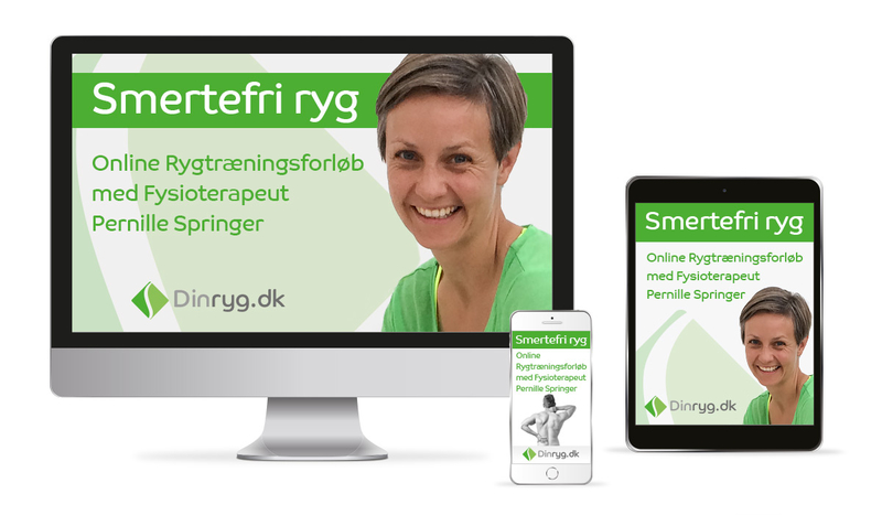 Smertefri ryg online rygtræning med Pernille Springer